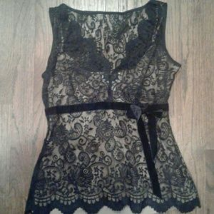 Black sleeveless cami top